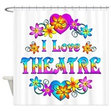 I Love Theatre Shower Curtain