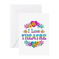 I Love Theatre Greeting Card