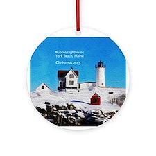 Personalized Nubble Light House Ornament