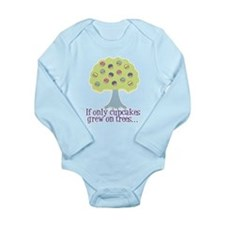 If only Cupcakes on Trees Long Sleeve Infant Bodys