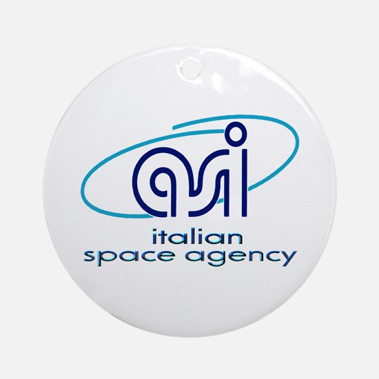 ASI - Italian Space Agency Ornament (Round)
