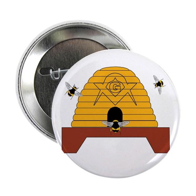 Masonic Bee Hive Button By Masons