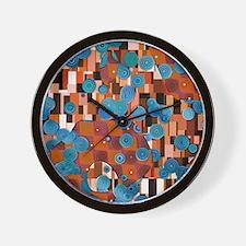 Klimtified! - Rust/Turquoise Wall Clock