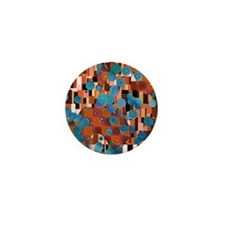 Klimtified! - Rust/Turquoise Mini Button