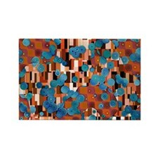 Klimtified! - Rust/Turquoise Rectangle Magnet
