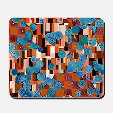 Klimtified! - Rust/Turquoise Mousepad