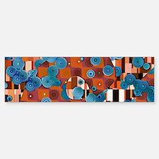 Klimtified! - Rust/Turquoise Bumper Bumper Sticker