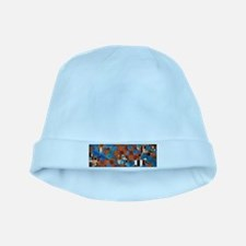 Klimtified! - Rust/Turquoise baby hat