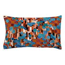Klimtified! - Rust/Turquoise Pillow Case