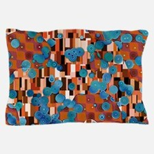 Klimtified! - Rust/Turquoise Pillow Case