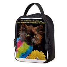 Freida, the throw away kitty Neoprene Lunch Bag