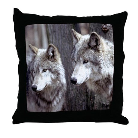 Timber Wolf - White Wolf Throw Pillow