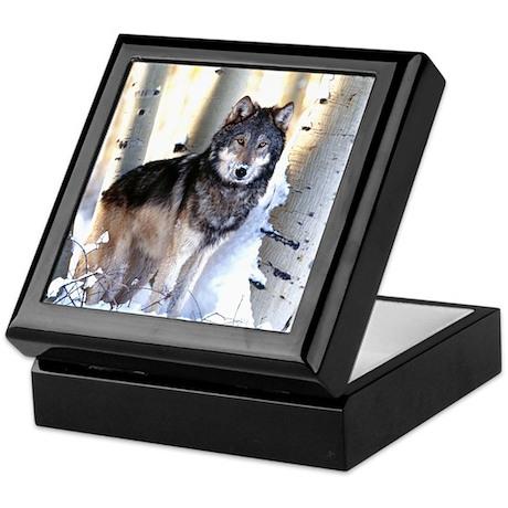 Timber Wolf - White Wolf Keepsake Box
