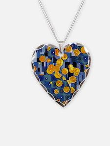 Klimtified! - Gold/Blue Necklace