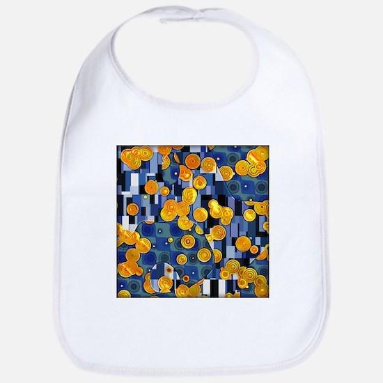 Klimtified! - Gold/Blue Bib