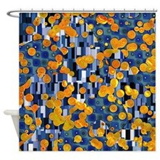 Klimtified! - Gold/Blue Shower Curtain