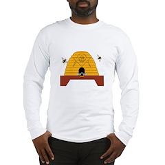Masonic Bee Hive Long Sleeve T-Shirt