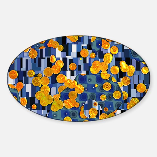 Klimtified! - Gold/Blue Sticker (Oval)