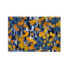 Klimtified! - Gold/Blue Rectangle Magnet