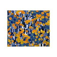Klimtified! - Gold/Blue Throw Blanket