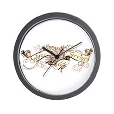 Wire Fox Terrier Graphic Wall Clock