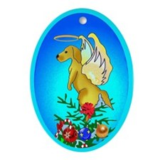 Golden Angel Oval Ornament