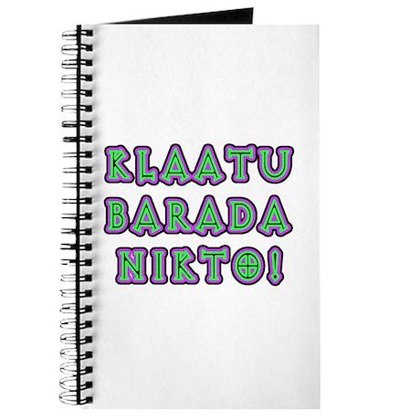 Klaatu Barada Nikto Journal