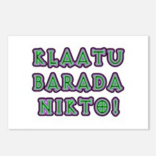 Klaatu Barada Nikto Postcards (Package of 8)
