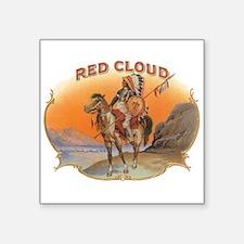 Vintage Cigar Label Art; Red Cloud Indian Horse St