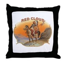 Vintage Cigar Label Art; Red Cloud Indian Horse Th