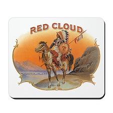 Vintage Cigar Label Art; Red Cloud Indian Horse Mo