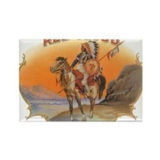 Vintage Cigar Label Art; Red Cloud Indian Horse Re