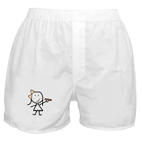 Girl & Scrabble Boxer Shorts