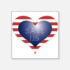 "SAVE US HEART Square Sticker 3"" x 3"""