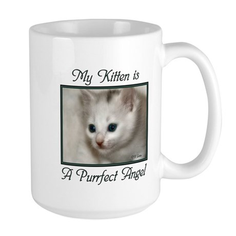 My Kitten is a Purrfect Angel Large Mug