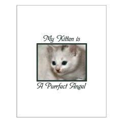 My Kitten is a Purrfect Angel Posters