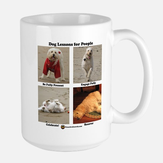 Dog Lessons for People Large Mug