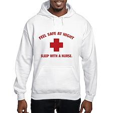 Feel safe at night - Sleep with a nurse Jumper Hoody