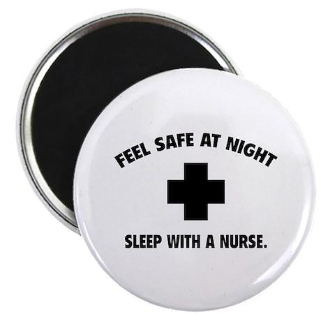 "Feel safe at night - Sleep with a nurse 2.25"" Magn"
