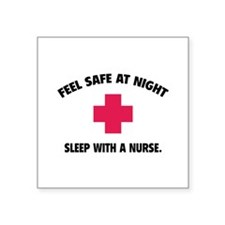 Feel safe at night - Sleep with a nurse Square Sti