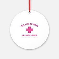 Feel safe at night - Sleep with a nurse Ornament (