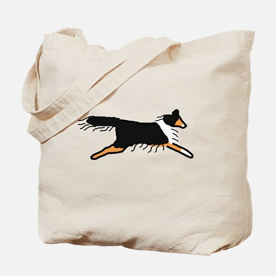 Tri-Color Sheltie Tote Bag