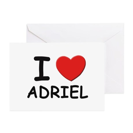 I love Adriel Greeting Cards (Pk of 10)