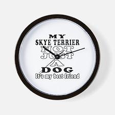 Skye Terrier not just a dog Wall Clock