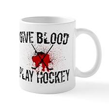 Give Blood Play Hockey Mug