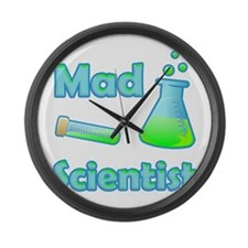Mad Scientist Large Wall Clock