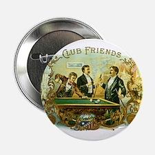 Vintage Cigar Label Art Club Friends Shooting Pool
