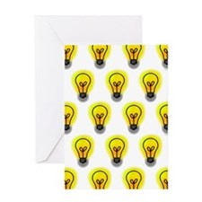 'Lightbulbs' Greeting Card