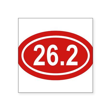 26.2 Marathon Red Euro Oval Sticker