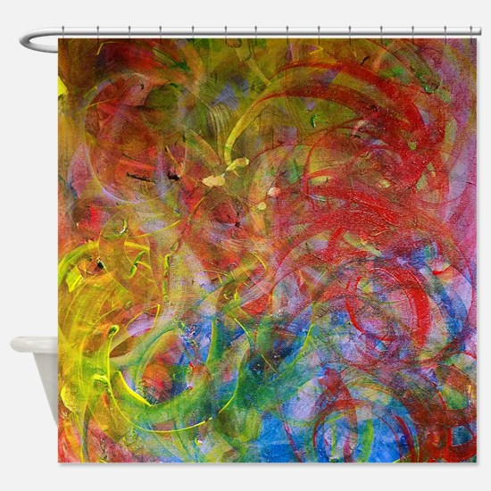 Swirlies Shower Curtain